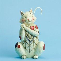 Jim Shore Heartwood Creek Heart Full Of Love-Love Cat 4031207