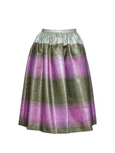 Metallic-stripe midi skirt by Marco De Vincenzo | Shop now at #MATCHESFASHION.COM