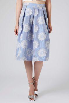 01306fbc5ef698 Antique Jacquard Midi Skirt I Topshop Pallazo Pants