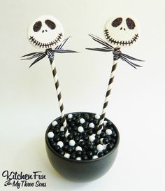 Kitchen Fun With My 3 Sons: Nightmare Before Christmas Jack Skellington Marshmallow Pops