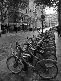 Velib (bike rentals) Paris - France #citibe #velib Best way to discover a city.. Like New York or Paris.  I would love for St. Louis to have a need for this.