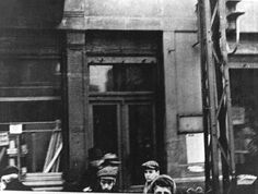 Warsaw, Poland, A doorway in the ghetto.  Belongs to collection: Yad Vashem Photo Archive  Places: WARSAW,POLAND