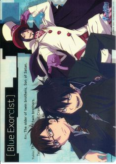 Blue Exorcist Pencil Board - Yukio Rin and Mephisto Clear Shitajiki A (Blue Exorcist)