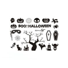 1pcs Halloween Horror Cartoon Tattoo Variety Pumpkin Spider Web Tombstone Cross  Sticker Temporary