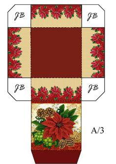 mini box ~ dollhouse printable Paper Folding Crafts, Paper Crafts, Christmas Bags, Christmas Crafts, Paper Box Template, Inexpensive Christmas Gifts, Printable Box, Miniature Christmas, Envelopes