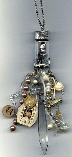 Deryn Mentock  bottle necklace