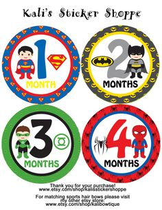 Hey, I found this really awesome Etsy listing at https://www.etsy.com/listing/173012846/superheroes-boy-baby-monthly-onesie
