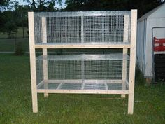 Hayseed Happenings: Assembling the rabbit cages
