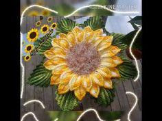 🌻Mega Girassol🌻 - YouTube Crochet Flower Patterns, Crochet Doilies, Crochet Flowers, Irish Crochet, Knit Crochet, Crochet Sunflower, Weaving Patterns, Crochet Videos, Soft Furnishings