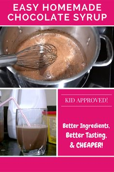 The best tasting homemade chocolate syrup recipe! So easy, so cheap... you'll never go back!