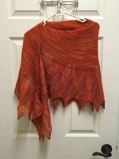 Levity Shawl by Kelly McClure, knitted by LitChick77 | malabrigo Sock in Terracota