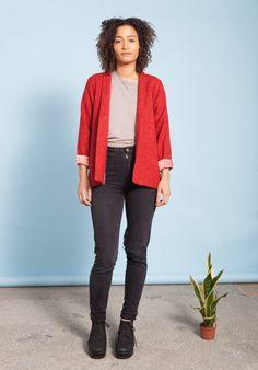 Birdsong London | Heba Blazer in Classic Red #sustainablefashion