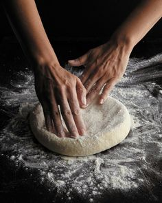 hands working dough - photography food preparation