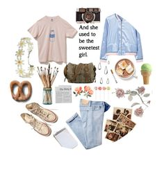 """All I have left of happyness is polaroids of summers past."" by steampunk-cat ❤ liked on Polyvore featuring Converse, MANGO and Old Navy"