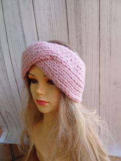 Knitted Headband, Turban Headbands, Knitted Hats, Twist Headband, Headbands For Women, Ear Warmers, Knit Or Crochet, Head Wraps, Hand Knitting