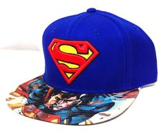 new SUPERMAN SNAPBACK HAT Blue/Red/Yellow Flat-Bill DC Comic Book Men/Women/Teen #DCComics #BaseballCap