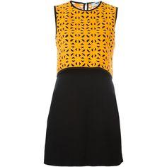 MSGM Geometric Pattern Dress ($351) ❤ liked on Polyvore featuring dresses, black, msgm, msgm dress, geometric pattern dress, geo dress and geometric dress