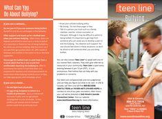 Teenline Bullying Brochure