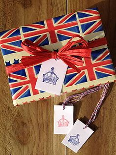 Diamond Jubilee Crown Gift Tags