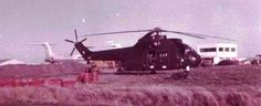 Argentine Puma helicopter at Port Stanley, Falklands 1982. Aermacchi MB339 and Beechcraft T-34C Mentor trainers and light attack aircraft, in addition to the ubiquitous IA 58 Pucara were all based at Stanley. Chinook's, Puma's, A109's, Skyvans and S-2E Trackers also used 'La Estación Aeronaval' during April.  The first to arrive were four Pucaras from Grupo 3, on the 2nd of April. The S-2E trackers arrived on the 3rd but had left within ten days.