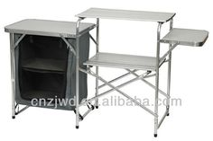 Aluminum camping kitchen table stand BBQ table/folding steel Camp cupboard outdoor furniture $10~$43