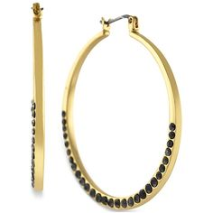 Pave set crystal hoops add a dazzling touch to LBDs, from Jessica Simpson