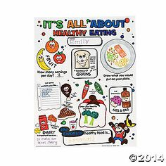"""Color Your Own """"It's All About Healthy Eating"""" Posters"""