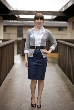This outfit is perfect for the office.