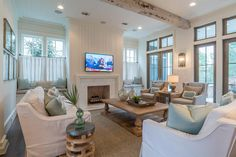 beautiful coastal family room