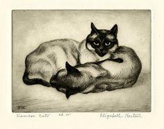 Elizabeth Norton (1887-1985) - Siamese Cats , c. 1935