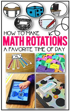 TONS of ideas for math rotations whether it is kindergarten, first grade, or second grade.