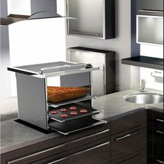 Caloriex is basically a built furnace concept that keeps a check on calories, fat and proteins input. Furthermore, it even advises the user about the recommended amount of nutrients to grasp in. In addition, it also allows the user to prepare three different meals at a time that can be easily controlled by an internet enabled mobile phone or laptop.  