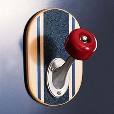 Skateboard wall hook