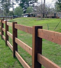 Wooden ranch rails are used in rural and residential areas to define property lines or for sight pleasing landscape designs.
