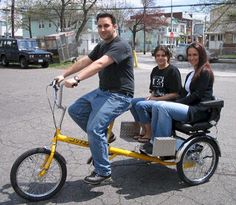 Dual Bike Carriage Tricycle