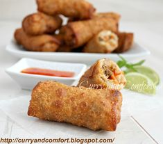 Curry and Comfort: Savory Asian Egg Rolls (Throwback Thursdays)