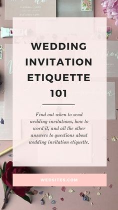 Your wedding invitations give your guests their first impression of your event, so its important to get them right! Find out when to send wedding invitations, how to word it, and all the other answers to questions about wedding invitation etiquette. Wedding Invitation Ettiquette, Wedding Invitation Wording Examples, Wedding Invitation Text, Wedding Wording, Destination Wedding Invitations, Beautiful Wedding Invitations, Printable Wedding Invitations, How To Word Wedding Invitations, Wedding Stationery