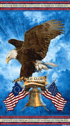 "Stonehenge Old Glory - Liberty Eagle - 24"" x 44"" PANEL"