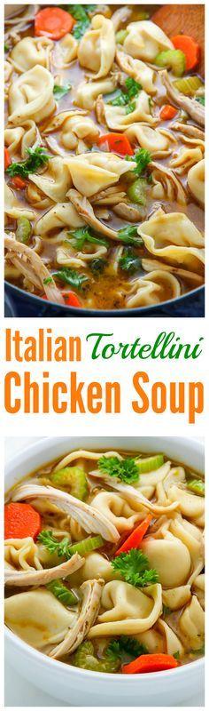 Nothing screams cozy like a giant bowl of Italian Chicken Tortellini Soup…