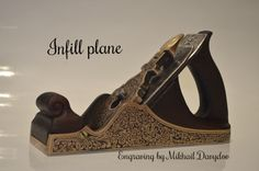 Rare Bronze Infill Smoothing Plane decorated with hand engraving Antique Tools, Old Tools, Plane Tool, Woodworking Planes, Hand Engraving, Bronze, Hands, Unique Jewelry, Antiques