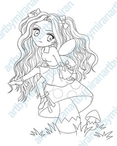 Kids Coloring Book Digital Stamp Coloring page by artbymiran, $2.50
