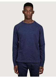 Nonnative Men's Navy Blue Dweller Cotton Sweatshirt