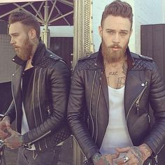 """Kay Michael's Quilted Biker with @billyhuxley  #bodaskins #luxury #leather"""