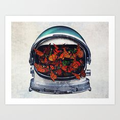 Within (helmet) Art Print by Seamless - $15.00