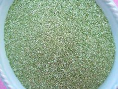 Spring Green Vintage German Glass Glitter