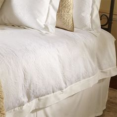 View the Monique Queen Duvet Cover from Arhaus. The passionate spirit and skillful eye of traditional French design, our Monique Bedding Collection