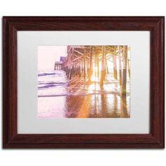 Trademark Fine Art 'Newport Pier Sunset 2' Canvas Art by Ariane Moshayedi, White Matte, Wood Frame, Size: 11 x 14, Multicolor