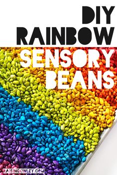 DIY dyed beans for sensory bins will keep your little ones happy for hours!