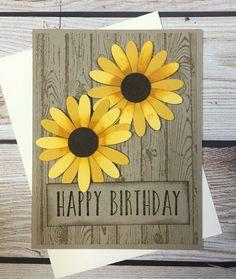 Happy Birthday Typography, Happy Birthday Messages, Happy Birthday Gifts, Handmade Birthday Cards, Handmade Fall Cards, Birthday Wishes, Rustic Birthday, Fall Birthday, Birthday Ideas