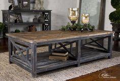 Spiro Distressed Wood Coffee Table